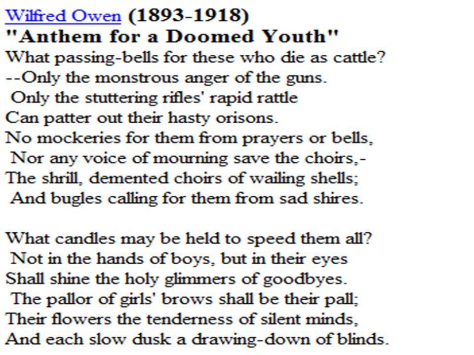 Wilfred Owen Born In 18 Of March 1893 Oswestry Shropshire