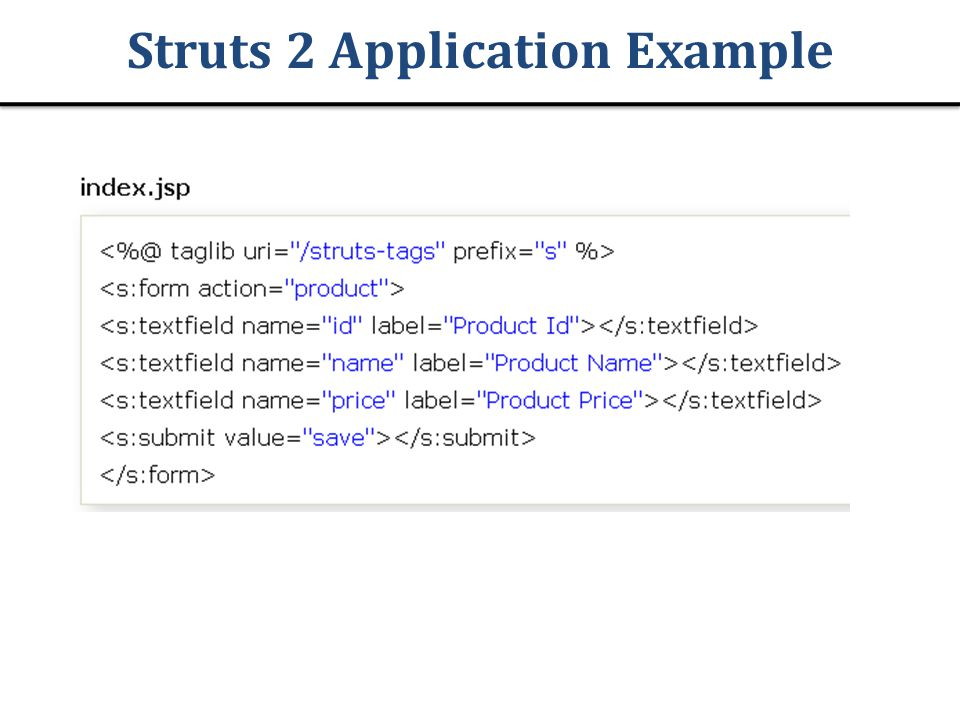 Struts 2 Application Example