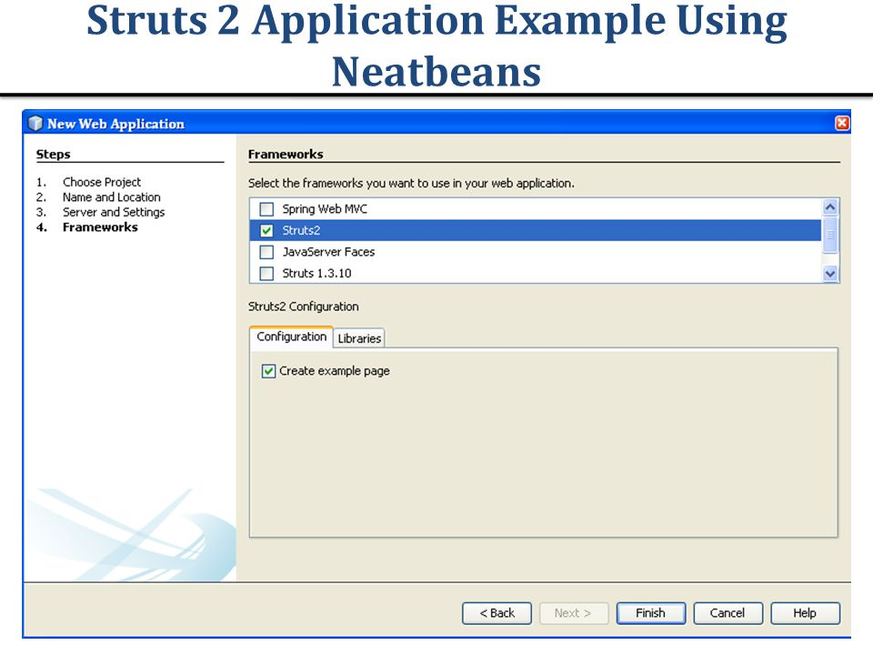 Struts 2 Application Example Using Neatbeans