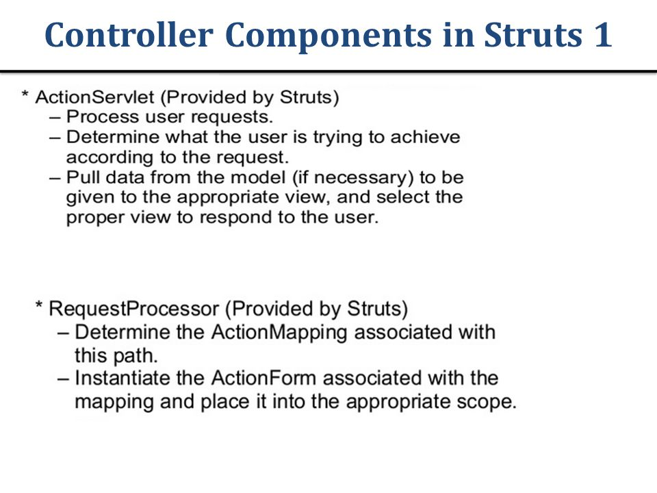 Controller Components in Struts 1
