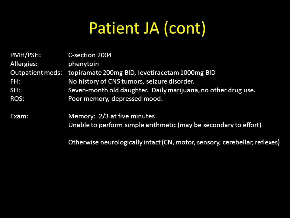 Patient JA: Surgery for temporal lobe epilepsy Andrew