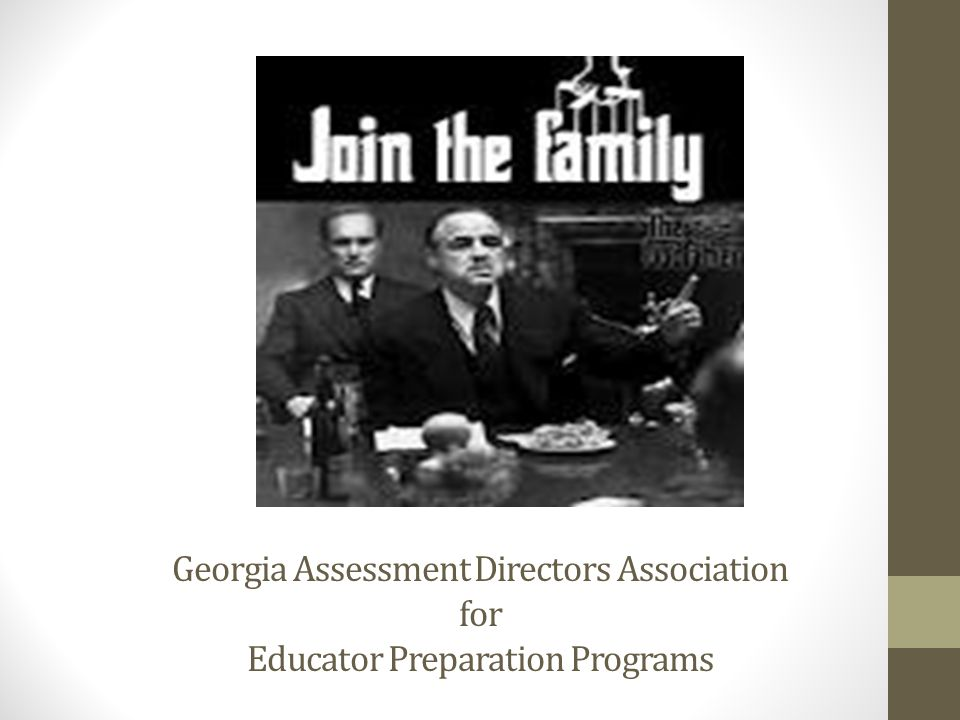 Georgia Assessment Directors Association for Educator Preparation Programs