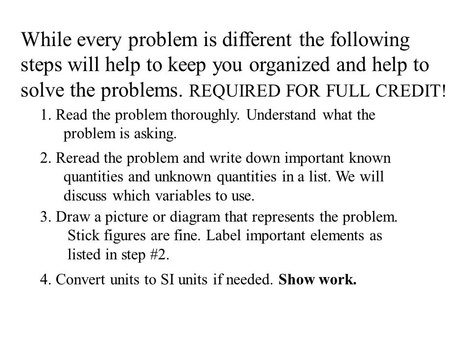 How to Solve Physics Problems Or Translating from English to Math By