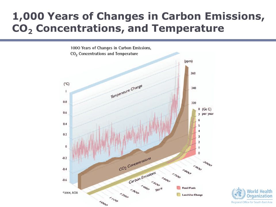 1,000 Years of Changes in Carbon Emissions, CO 2 Concentrations, and Temperature