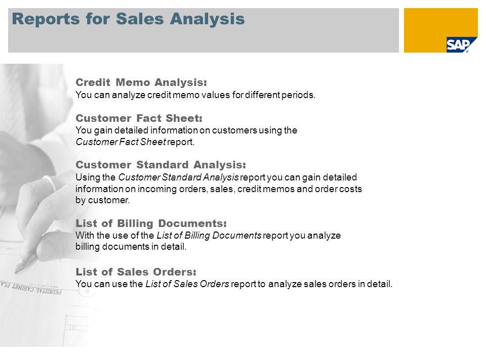 Sales SAP Best Practices for Business Intelligence SAP Best