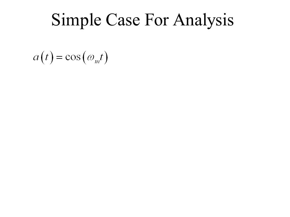 Simple Case For Analysis