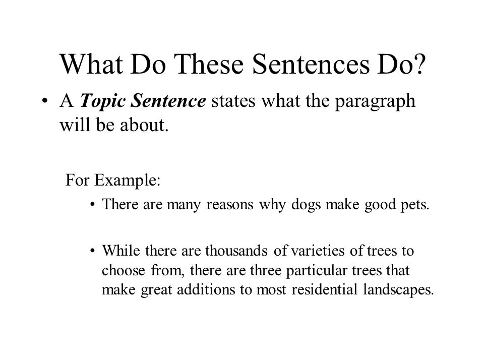 how can i write a good sentence