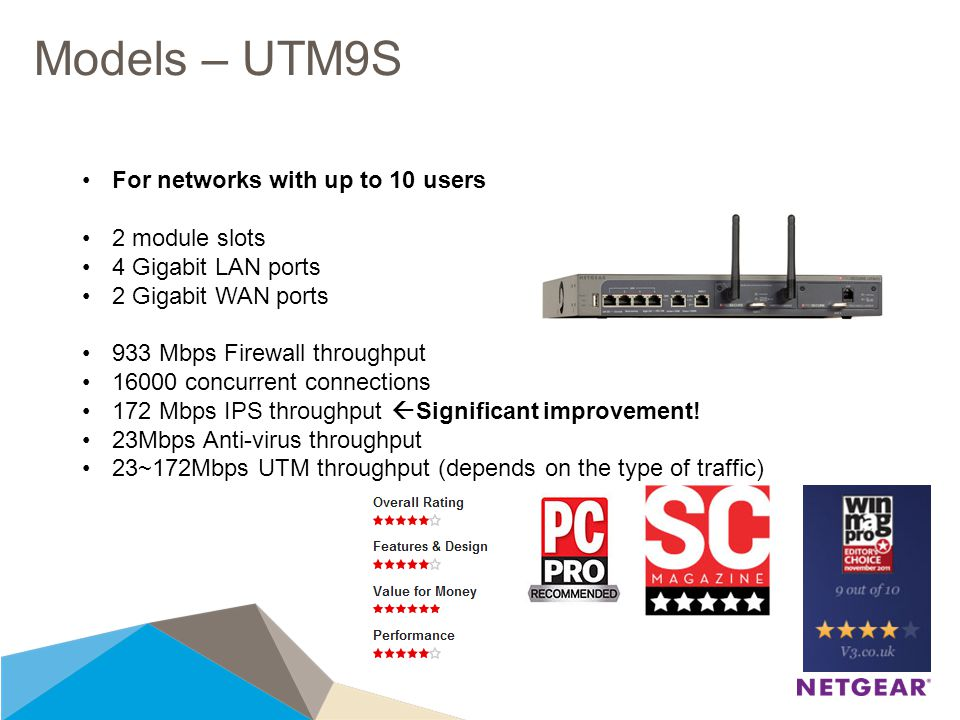 UTM S Series OVERVIEW November, UTM S Series - What it is A