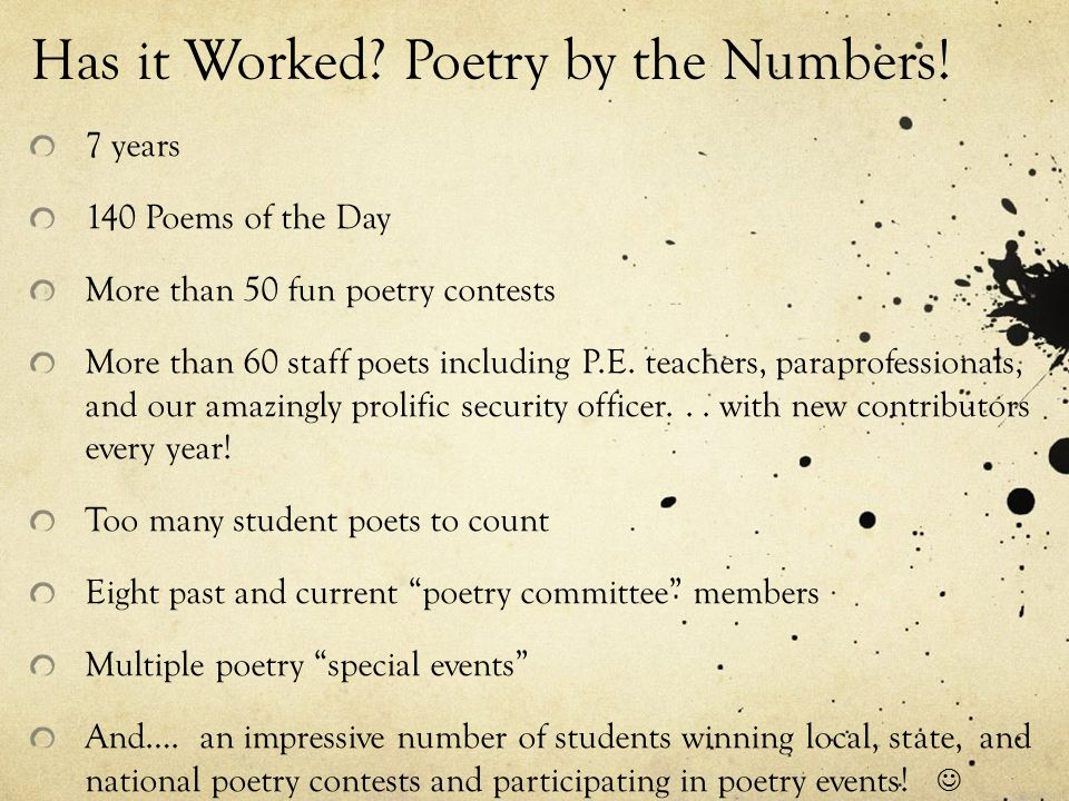 POETRY POWER!!! How to Create a Culture of Poetry in Your School ...