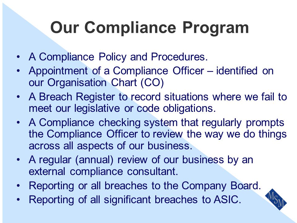 Who Is Responsible For Compliance.