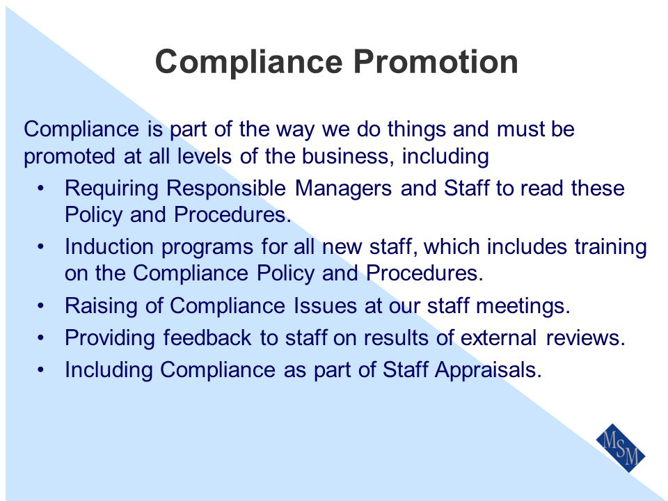 Our Compliance Program A Compliance Policy and Procedures.