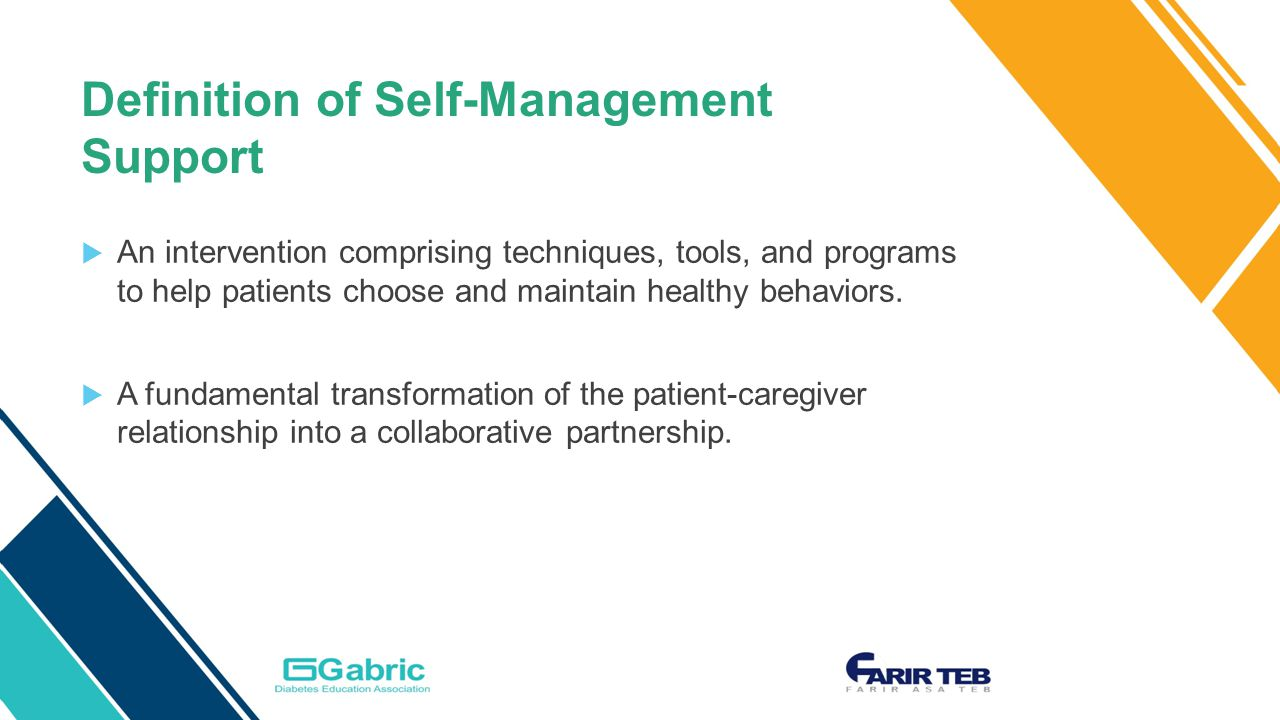 definition of self-management support  an intervention comprising