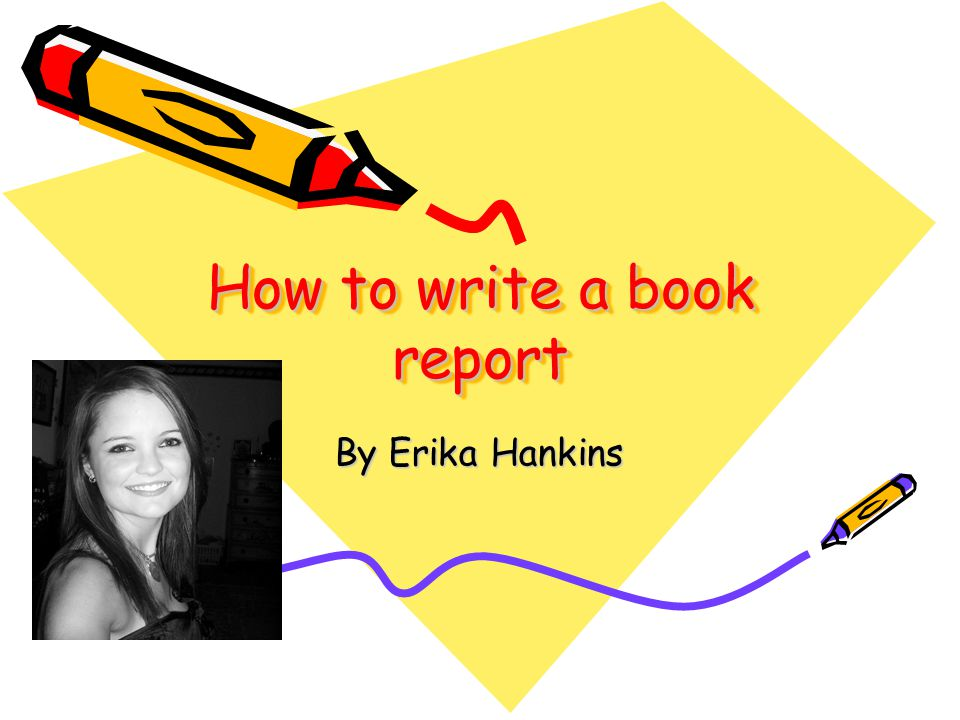 steps to writing a book report