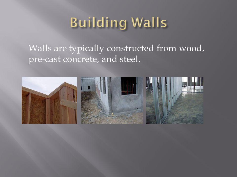 Building Walls  Wood Framed Walls  Precast Concrete Walls ...