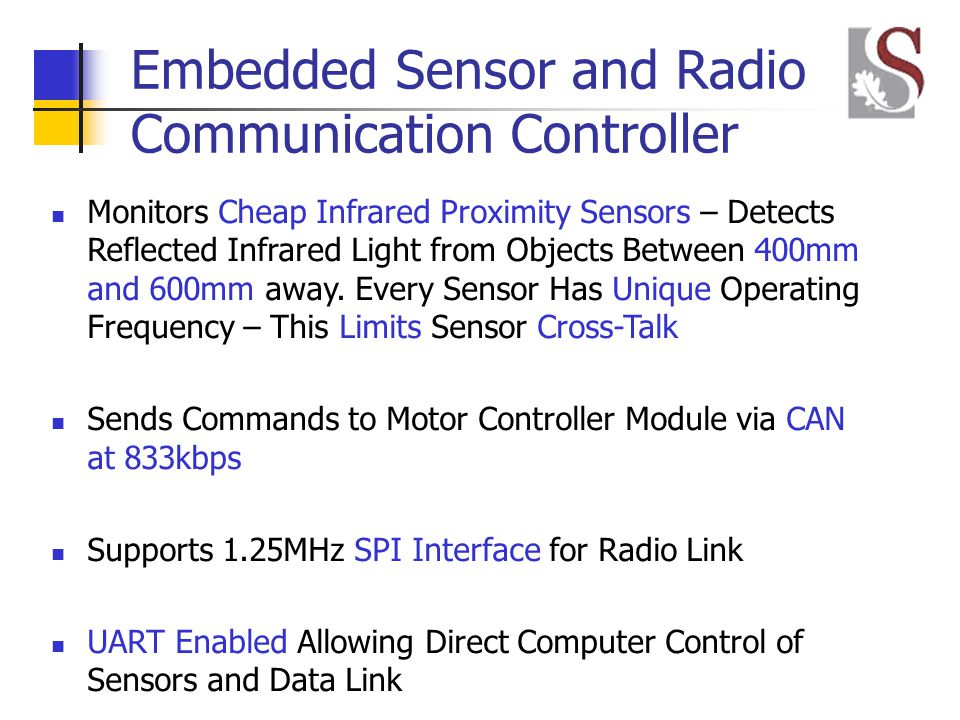Embedded Sensor and Radio Communication Controller Monitors Cheap Infrared Proximity Sensors – Detects Reflected Infrared Light from Objects Between 400mm and 600mm away.