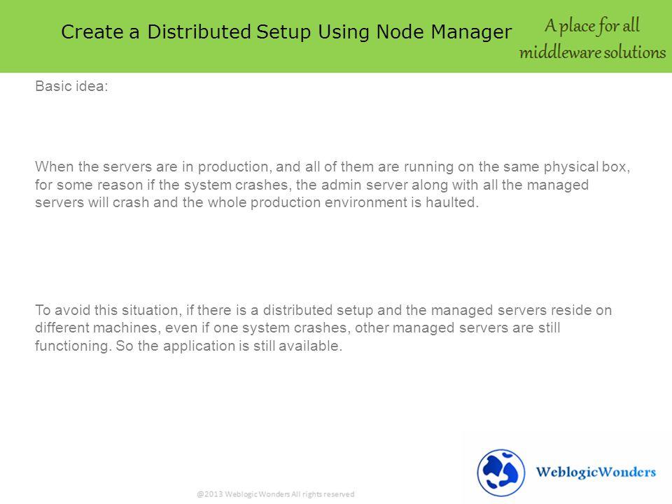 Creating Distributed Setup WEBLOGIC SERVER Create A Distributed