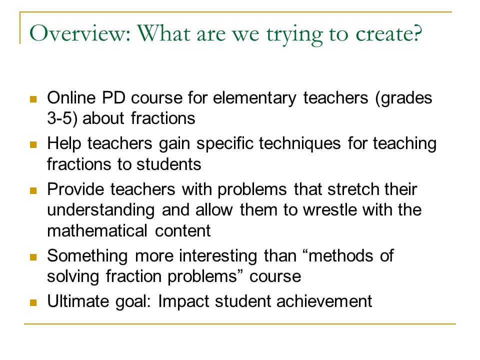 Designing an Online Math Course: Questions and Answers Burt ...