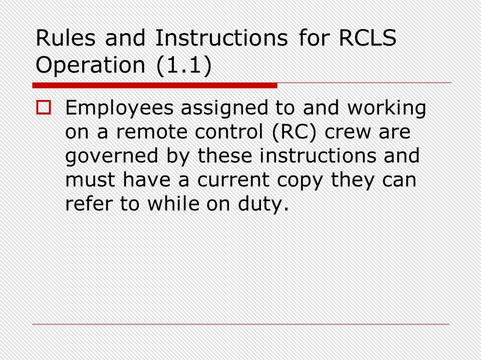 rgpc remote control locomotive operator training course for rh slideplayer com Create Operations Manual Operations Manual Template for Word