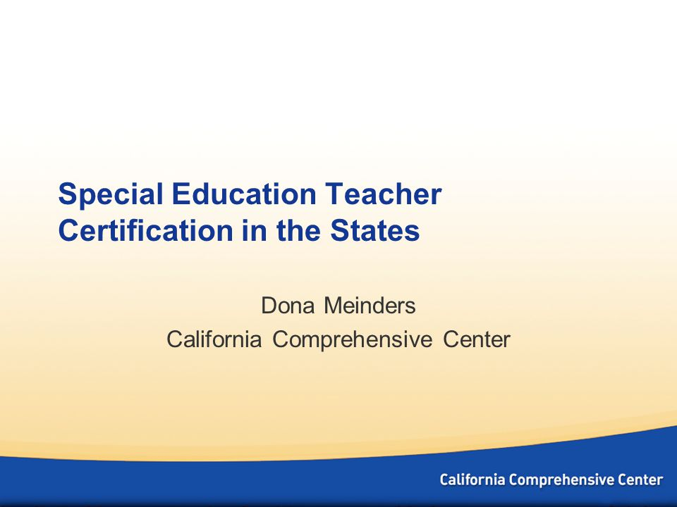 Special Education Teacher Certification In The States Dona Meinders