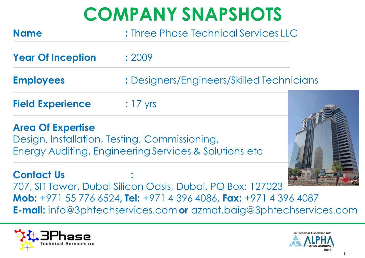 Three Phase Technical Services LLC, Dubai  LV/MV SWITCHGEAR SITE
