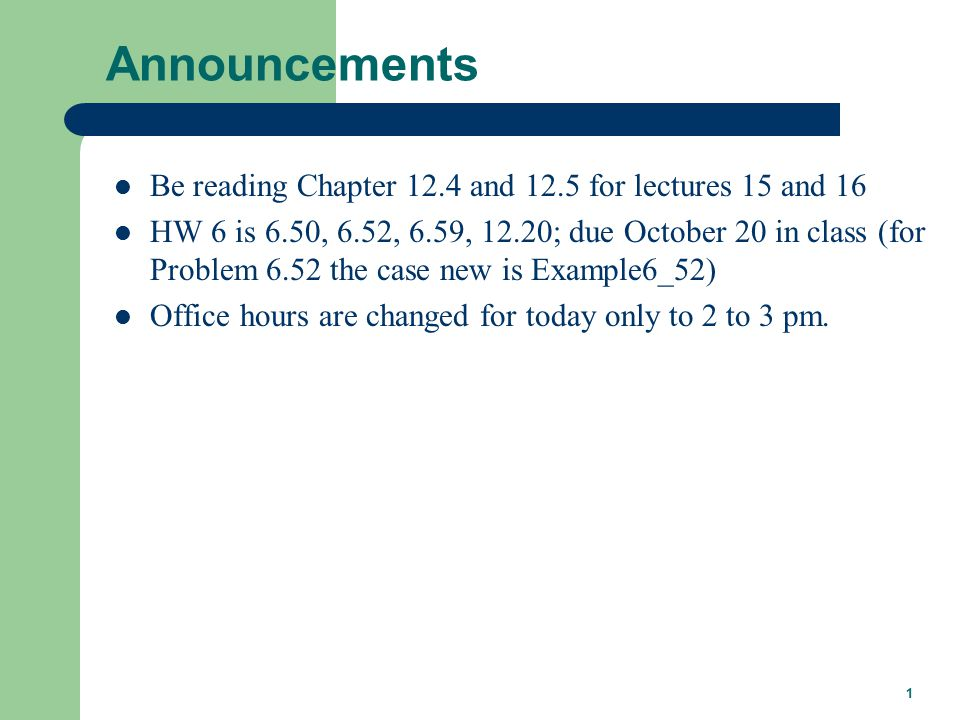 Lecture 16 Economic Dispatch Professor Tom Overbye