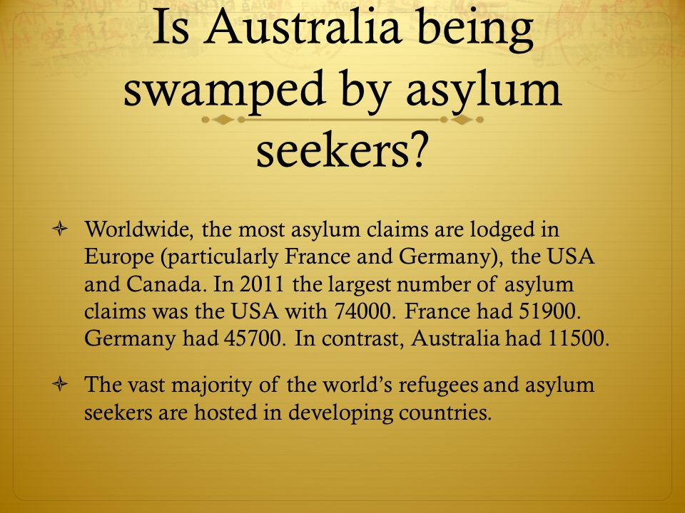 Is Australia being swamped by asylum seekers.
