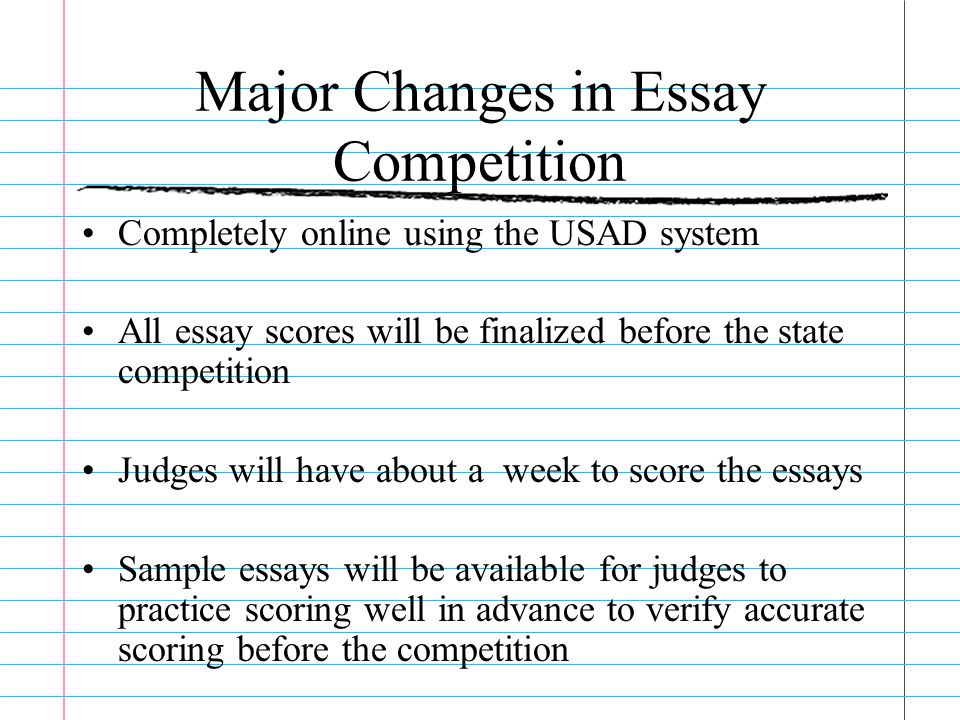 Genetically Modified Food Essay Thesis  Competition Essay Coordinator  Major  How To Write An Essay For High School Students also Essay On Importance Of Good Health Coaching Essay And Essay Update Amy Tait Gad State Competition Essay  High School Sample Essay