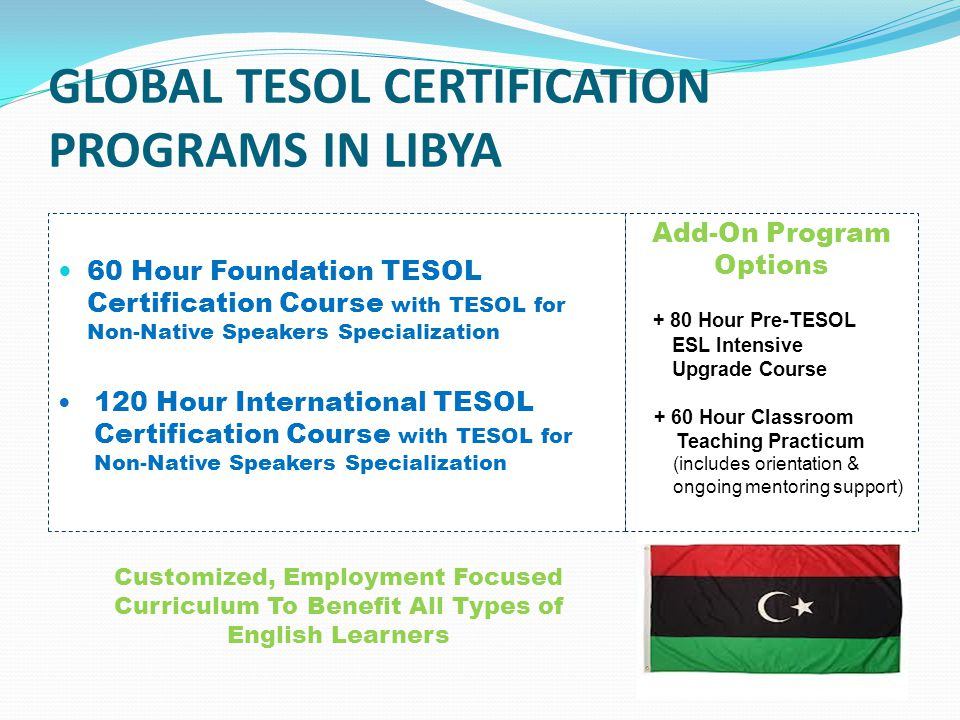 International Tesol Certification English Language Training Esl