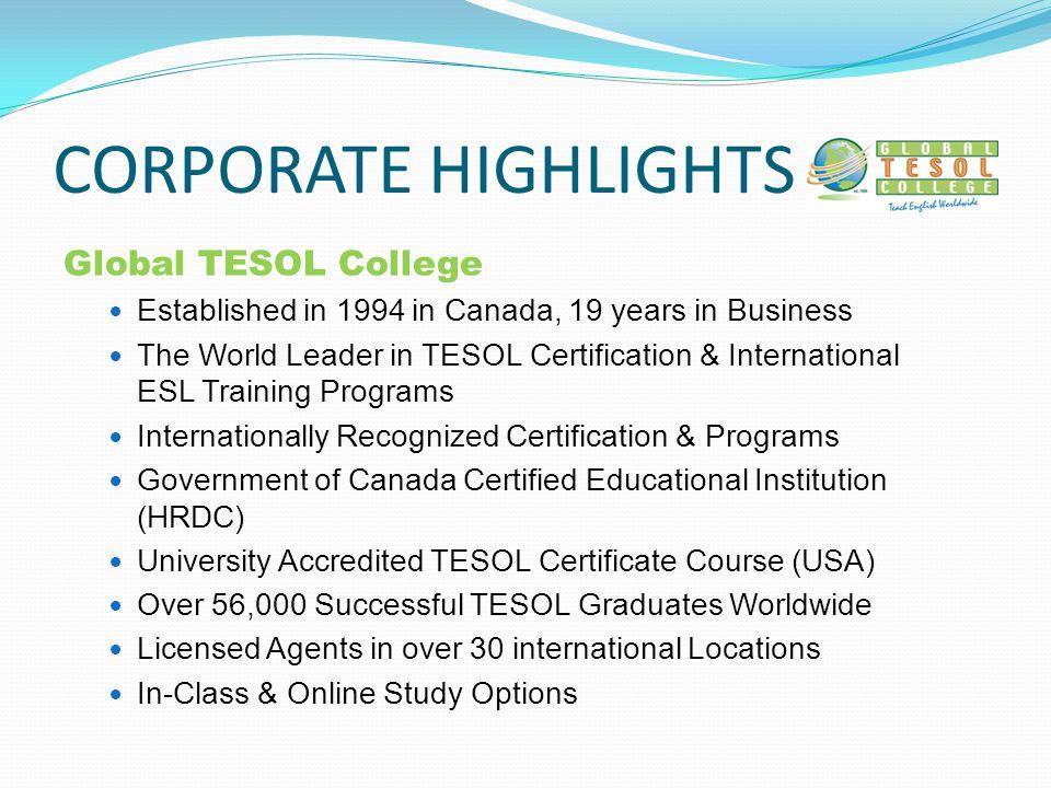 International Tesol Certification English Language Training Esl