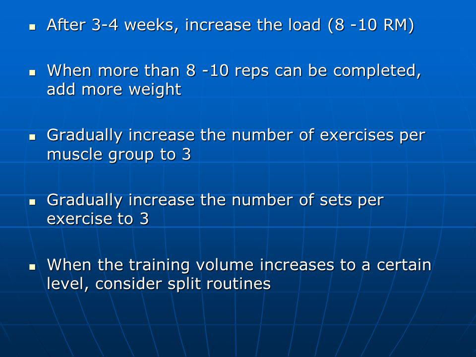 Strength Training Exercise Prescription Overload principle