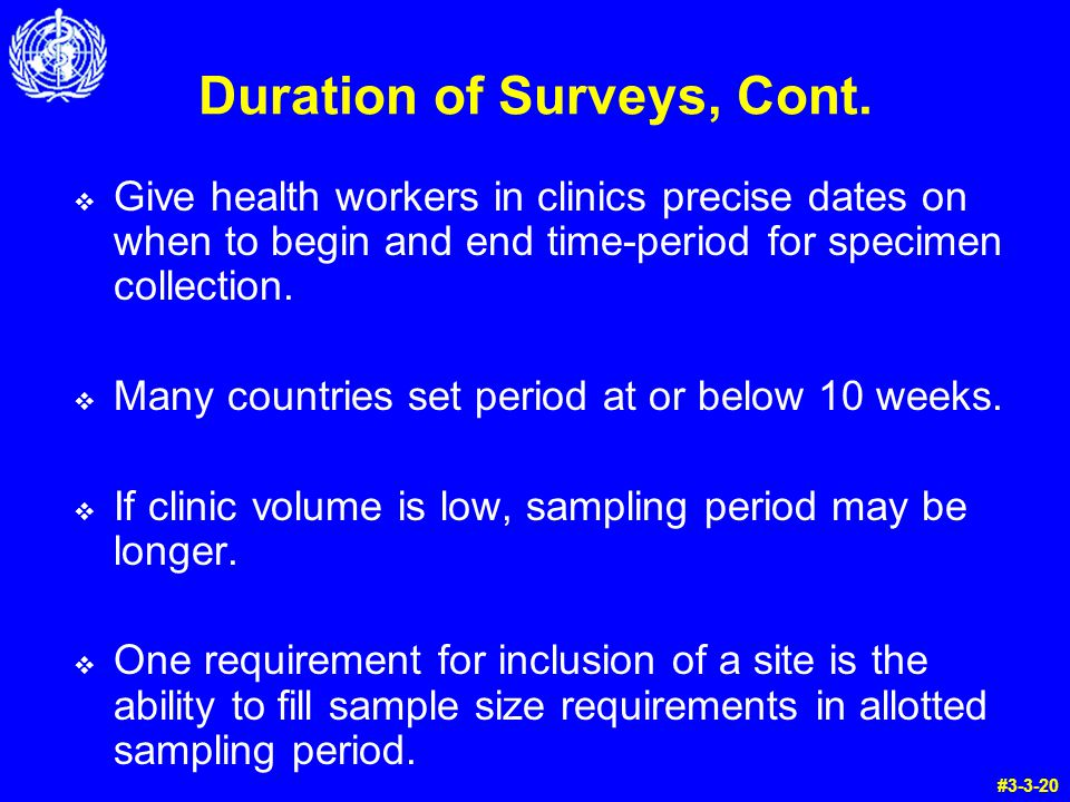 Duration of Surveys, Cont.
