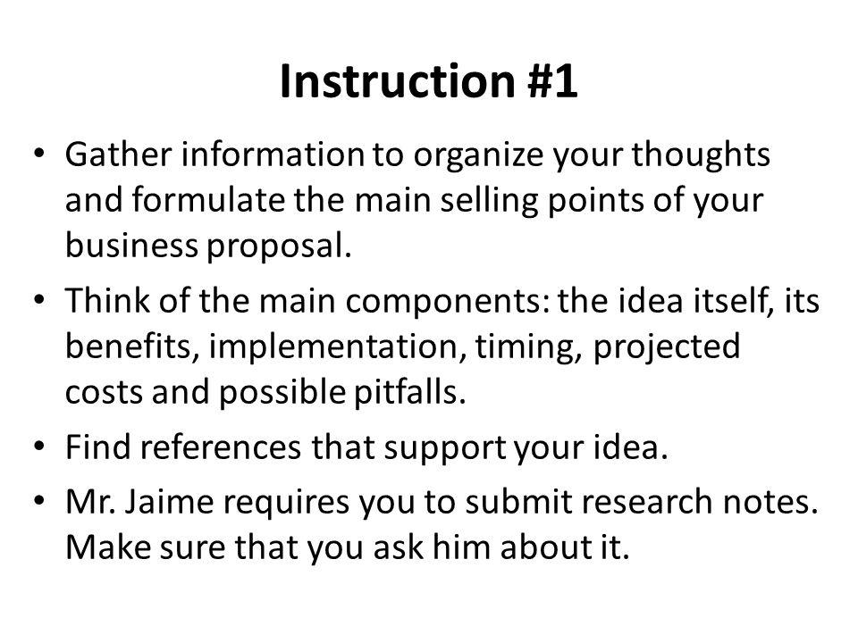 3 instruction