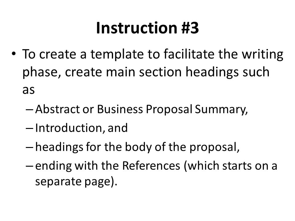 How to write a business proposal in apa format by elaine riot ehow 5 instruction flashek Choice Image