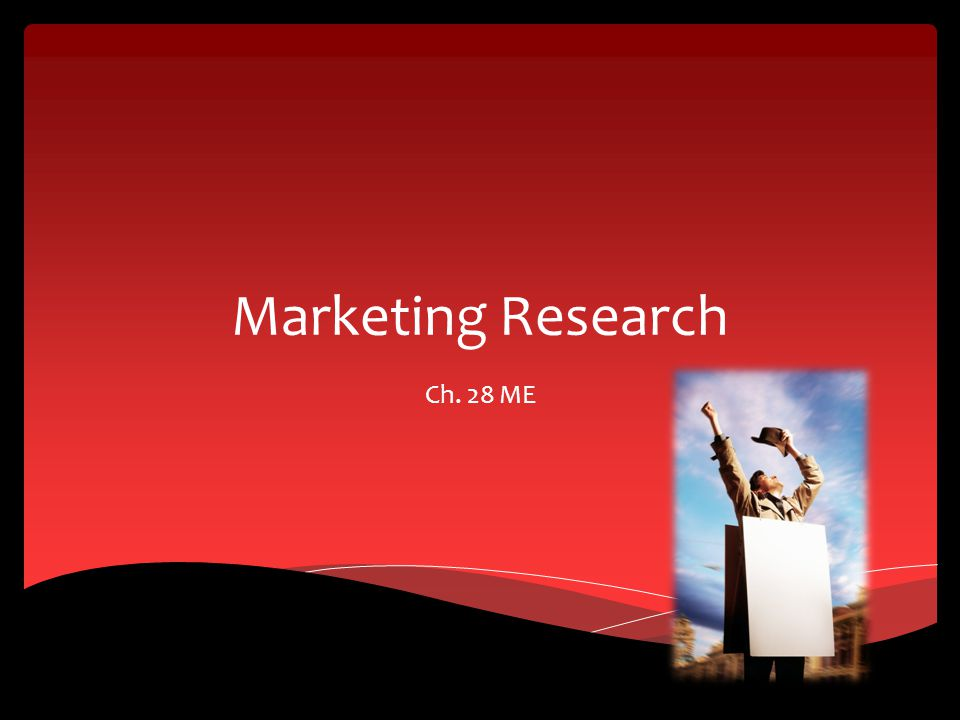 Marketing Research Ch. 28 ME