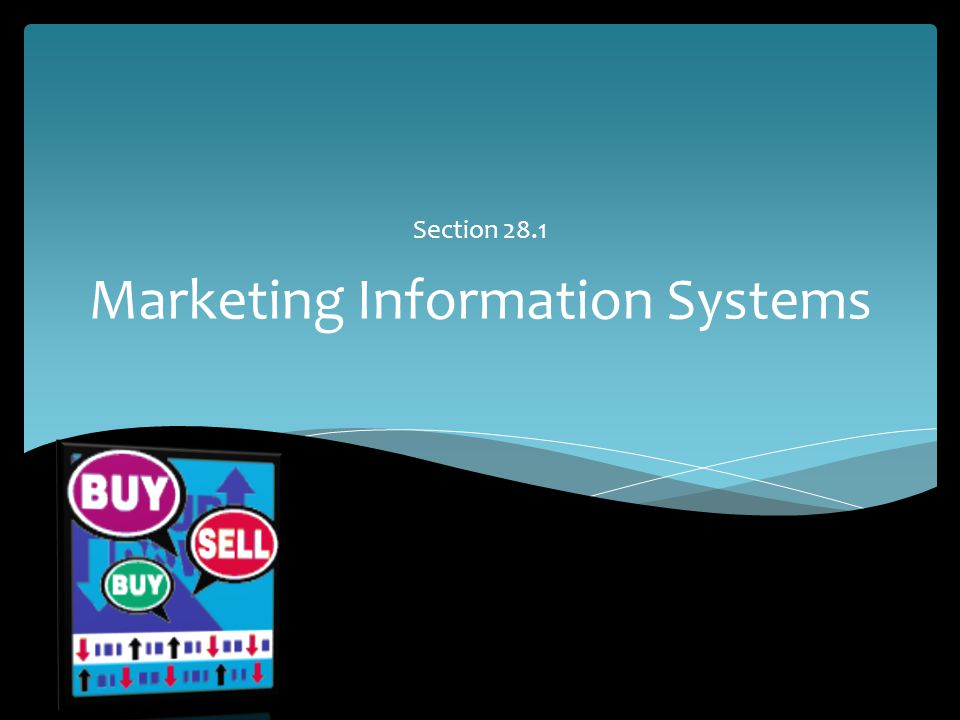 Marketing Information Systems Section 28.1