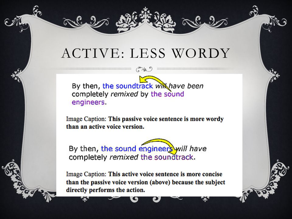 ACTIVE: LESS WORDY