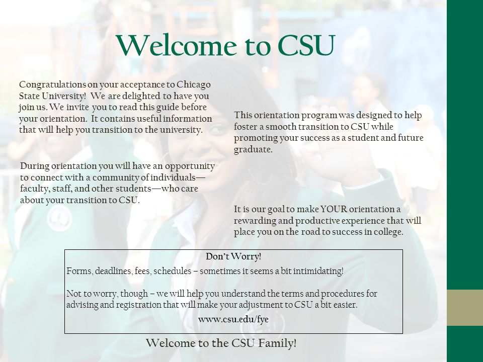 New Student Guide Welcome Cougars Welcome To Csu It Is Our Goal To