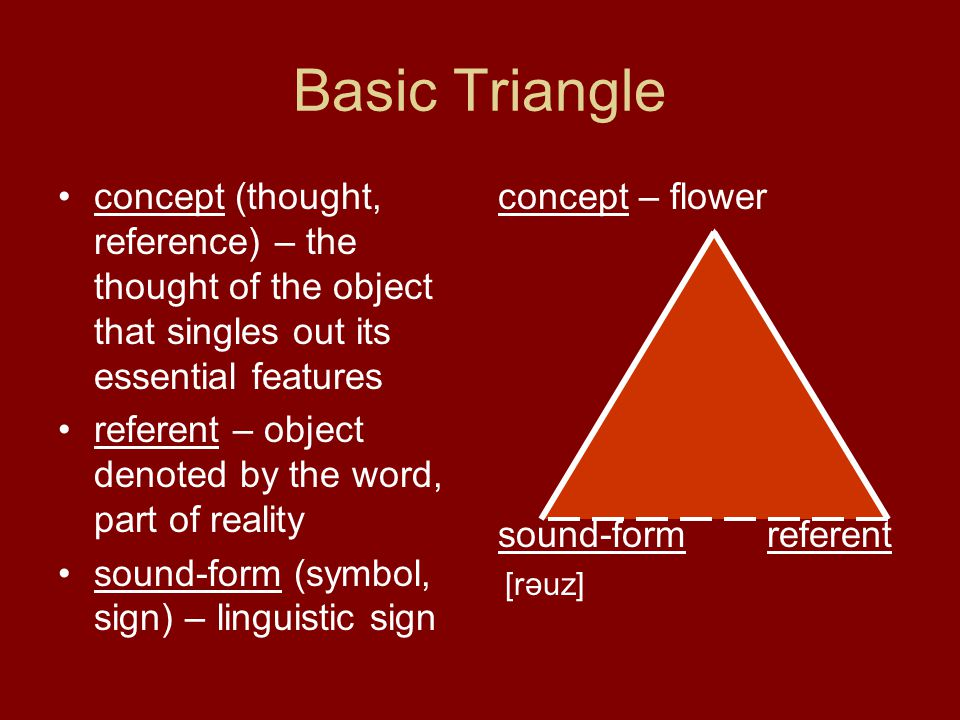 Word Meaning Two Approaches To Word Meaning Meaning And Notion