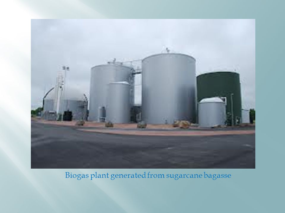 Biogas plant generated from sugarcane bagasse
