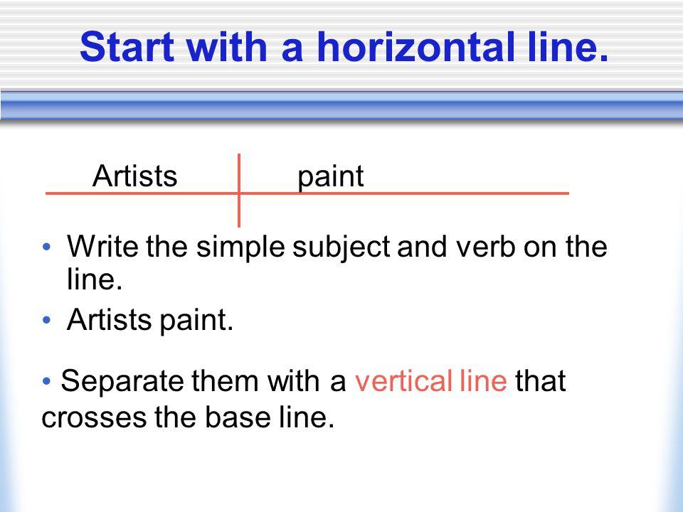 Diagramming sentences we can diagram a sentence to show its 2 diagramming sentences ccuart Images