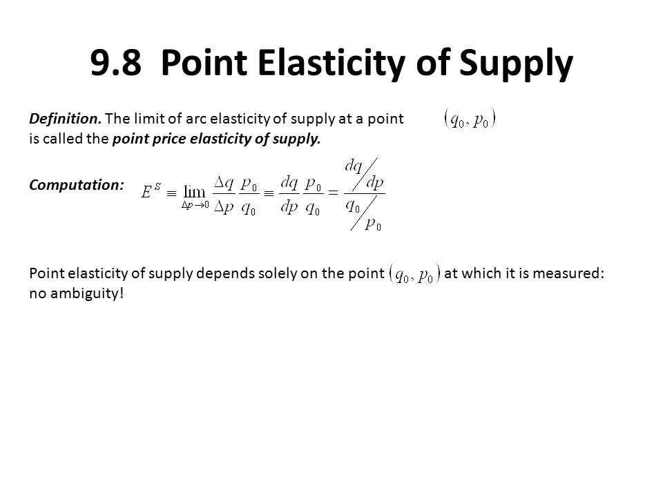Elasticity Chapter Introduction Consider A Demand Function Q Q P