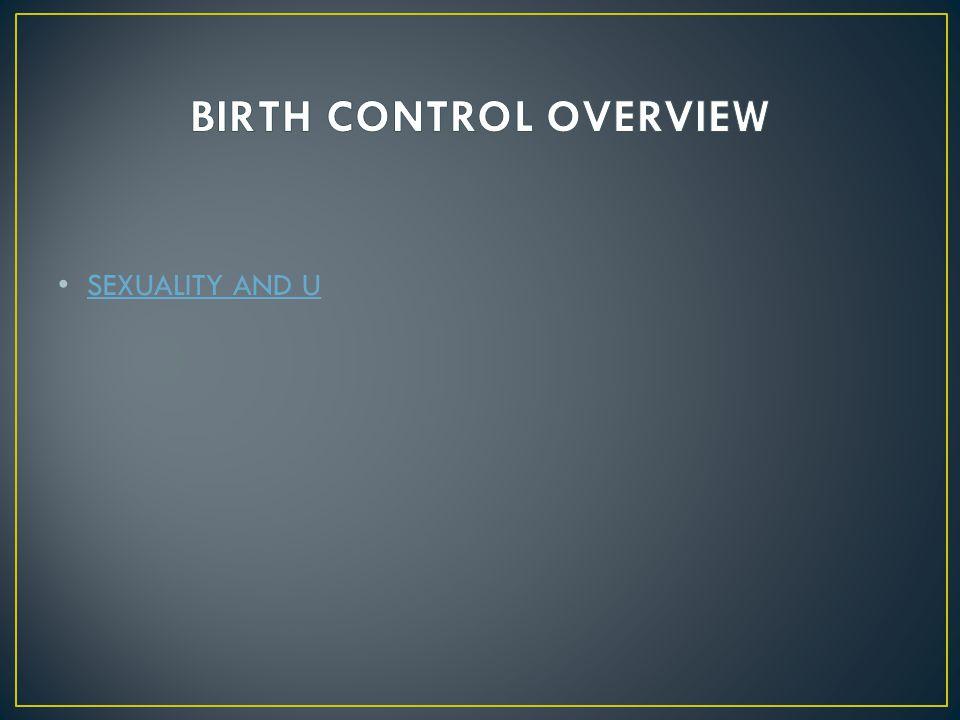Sexuality and u birth control