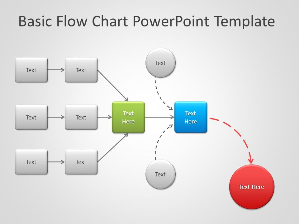 Basic Flow Chart Powerpoint Template Text