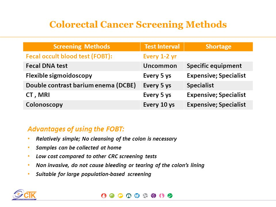 Onsite Fob Rapid Test A Specific And Sensitive Colorectal Cancer Screening Test Ppt Download