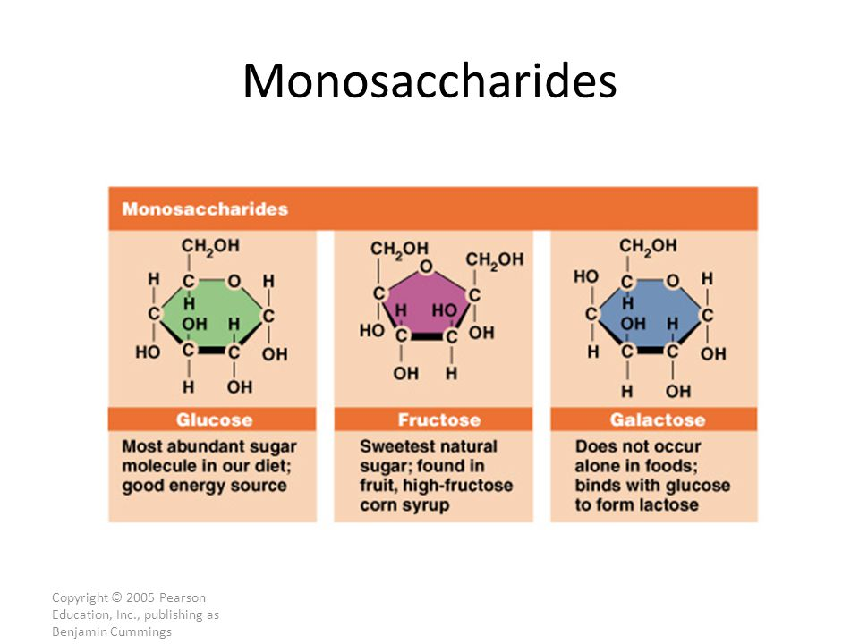 Copyright © 2005 Pearson Education, Inc., publishing as Benjamin Cummings Monosaccharides