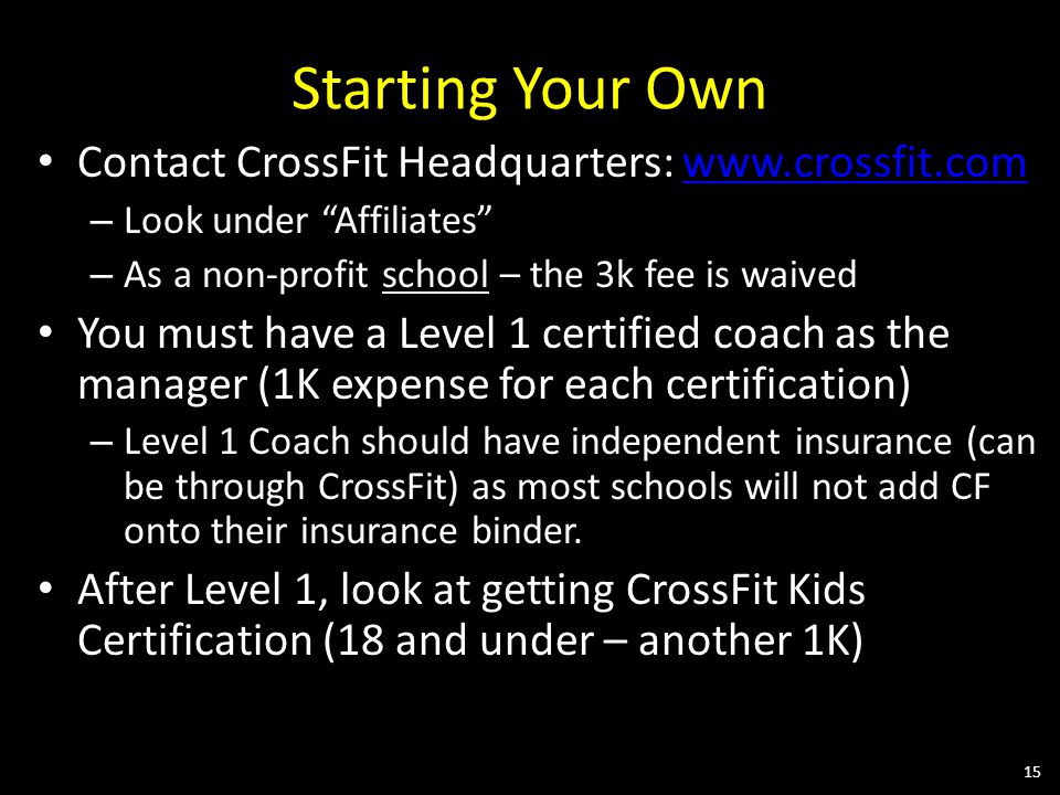 Bringing CrossFit to your Physical Education Program and Your School ...
