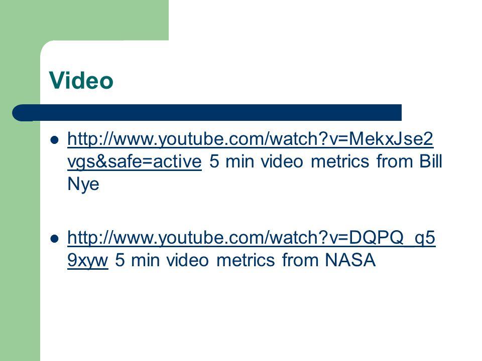 Measurement Notes Video Vgssafeactive 5 Min Video Metrics From