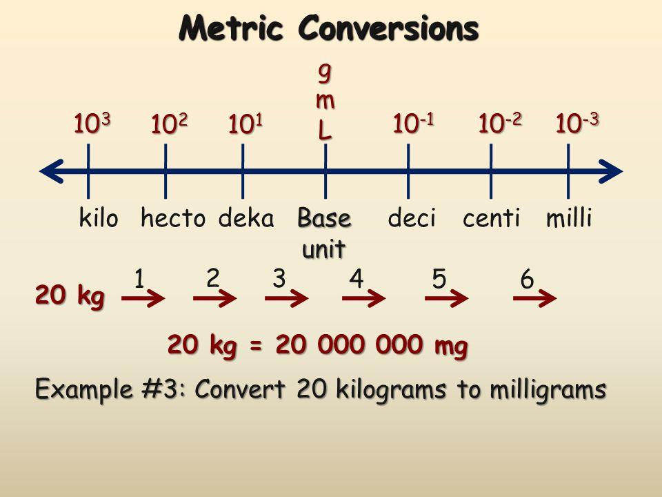 8 Metric Conversions