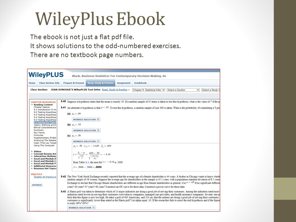 Aplia connect mystatlab or wileyplus which one is right for you the ebook is not just a flat pdf file it shows solutions to the odd fandeluxe Image collections