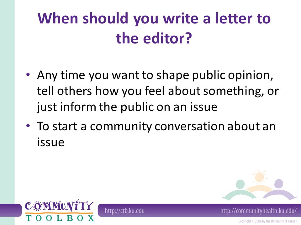 when should you write a letter to the editor